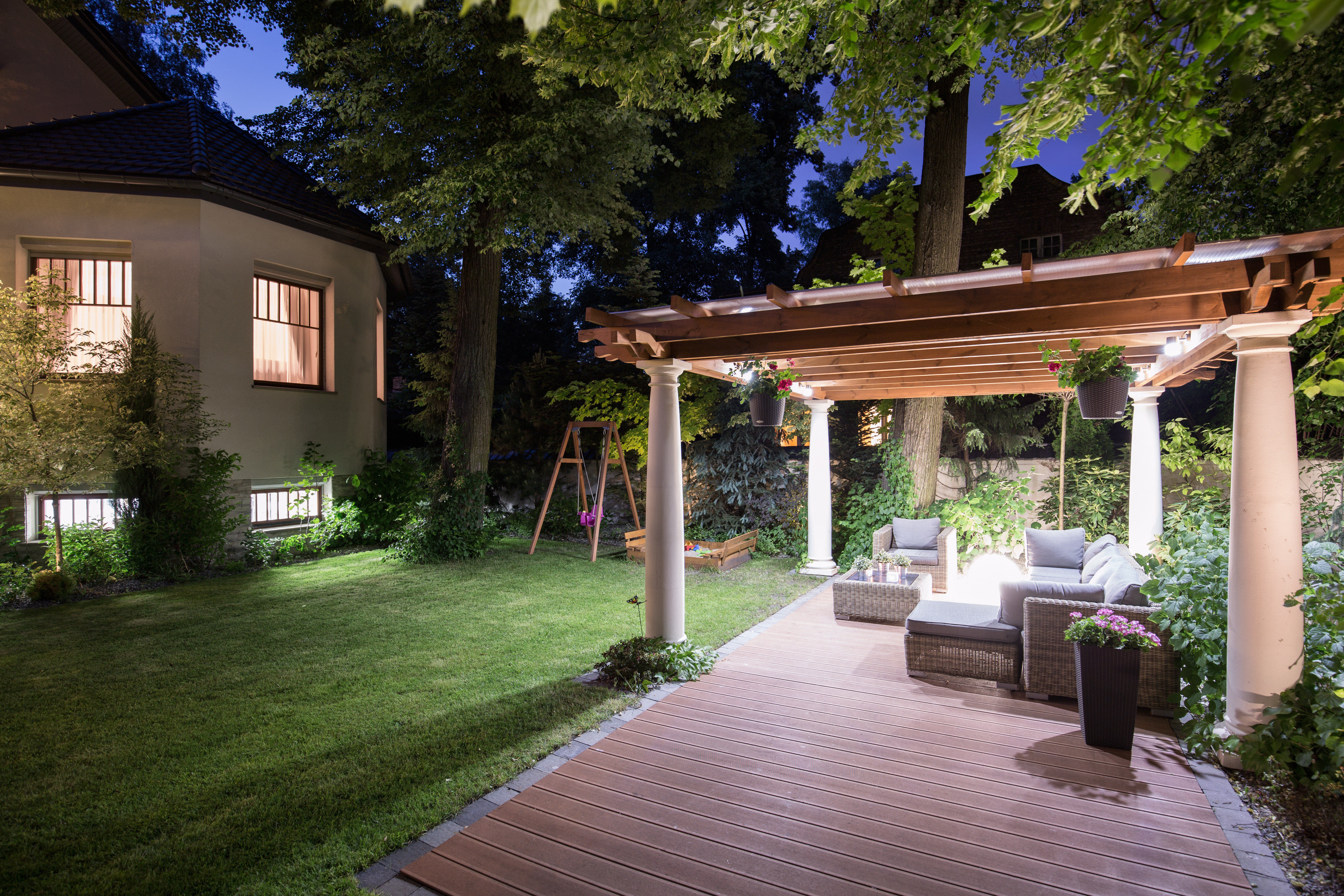 Shade For Decks Retractable Portable And Canopy Awnings