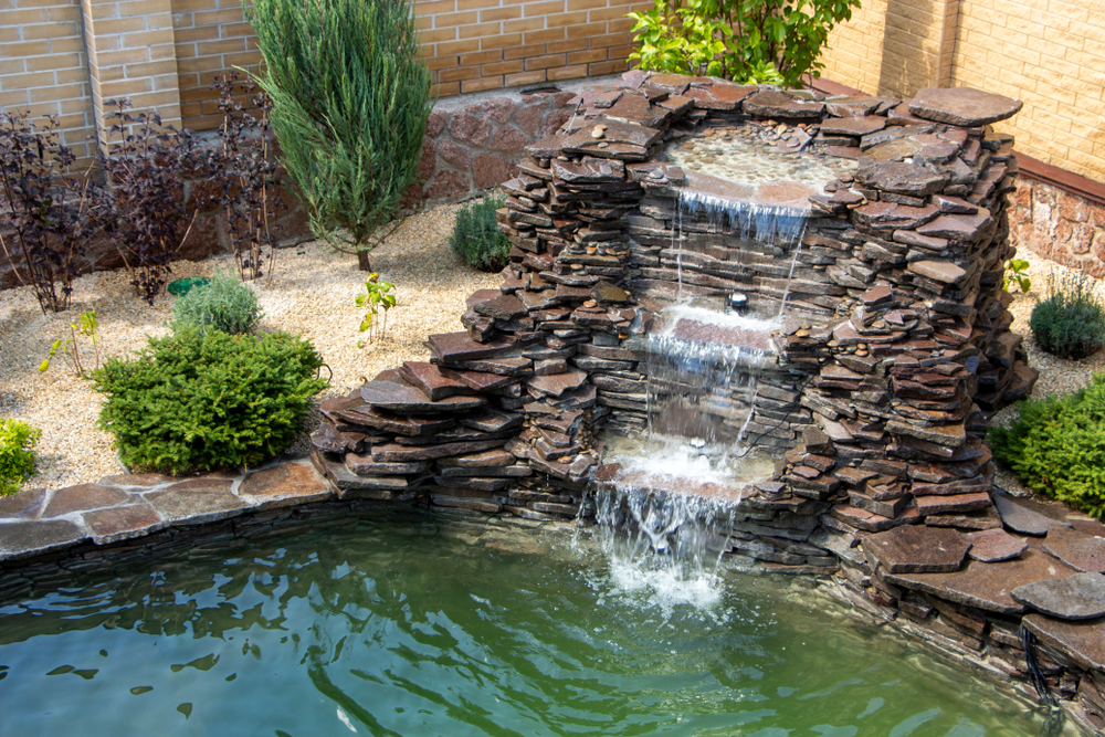 backyard remodeling fountain